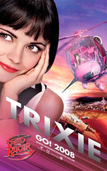 Speed Racer Trixie Poster