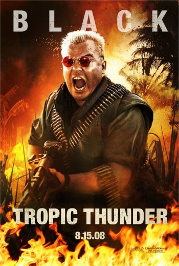 Tropic Thunder Poster Jack Black