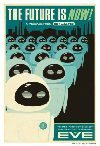 Wall-E Retor Poster